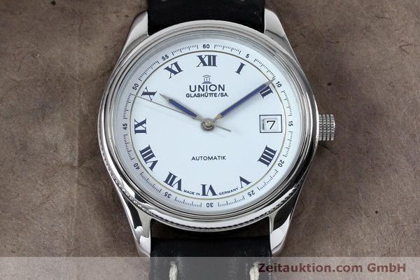 Used luxury watch Union Glashütte * steel automatic Kal. 26-11  | 151940 14