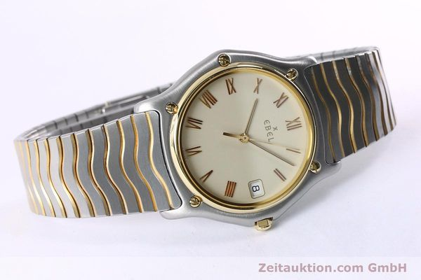 Used luxury watch Ebel Classic Wave steel / gold quartz Kal. 187-1 Ref. 1187141  | 151945 03