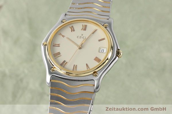 Used luxury watch Ebel Classic Wave steel / gold quartz Kal. 187-1 Ref. 1187141  | 151945 04