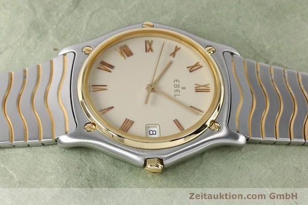 Used luxury watch Ebel Classic Wave steel / gold quartz Kal. 187-1 Ref. 1187141  | 151945 05