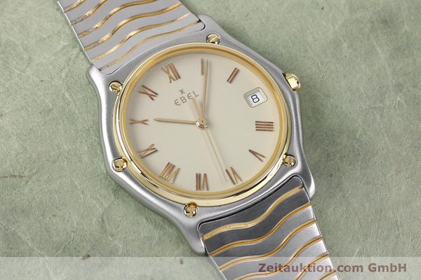Used luxury watch Ebel Classic Wave steel / gold quartz Kal. 187-1 Ref. 1187141  | 151945 12