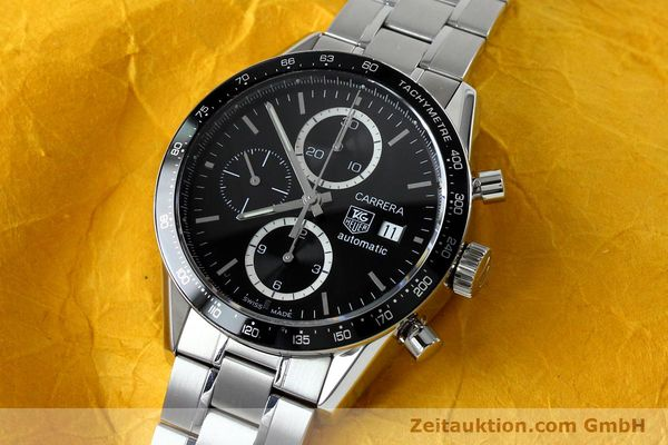Used luxury watch Tag Heuer Carrera chronograph steel automatic Kal. 16 ETA 7750 Ref. CV20103  | 151956 01