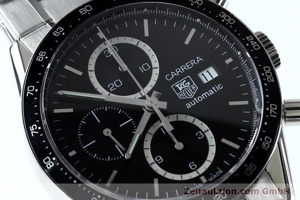 Used luxury watch Tag Heuer Carrera chronograph steel automatic Kal. 16 ETA 7750 Ref. CV20103  | 151956 02