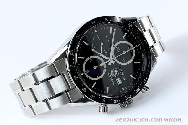 Used luxury watch Tag Heuer Carrera chronograph steel automatic Kal. 16 ETA 7750 Ref. CV20103  | 151956 03