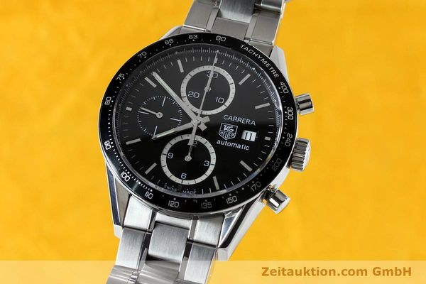 Used luxury watch Tag Heuer Carrera chronograph steel automatic Kal. 16 ETA 7750 Ref. CV20103  | 151956 04