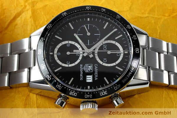 Used luxury watch Tag Heuer Carrera chronograph steel automatic Kal. 16 ETA 7750 Ref. CV20103  | 151956 05