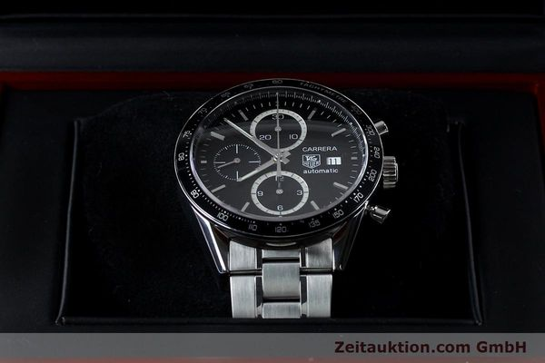 Used luxury watch Tag Heuer Carrera chronograph steel automatic Kal. 16 ETA 7750 Ref. CV20103  | 151956 07