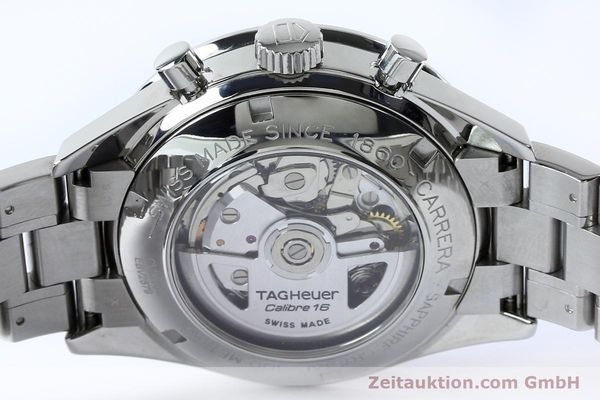Used luxury watch Tag Heuer Carrera chronograph steel automatic Kal. 16 ETA 7750 Ref. CV20103  | 151956 10