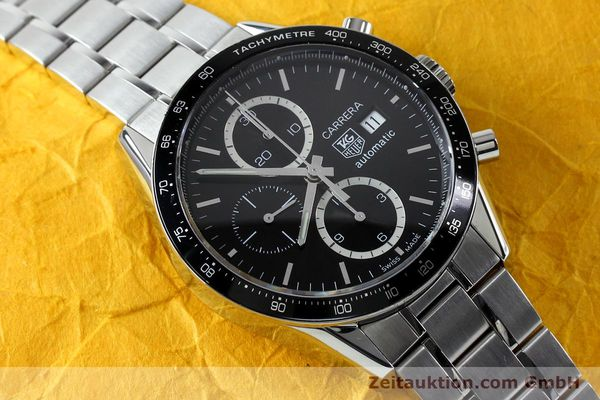 Used luxury watch Tag Heuer Carrera chronograph steel automatic Kal. 16 ETA 7750 Ref. CV20103  | 151956 15