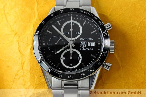 Used luxury watch Tag Heuer Carrera chronograph steel automatic Kal. 16 ETA 7750 Ref. CV20103  | 151956 16