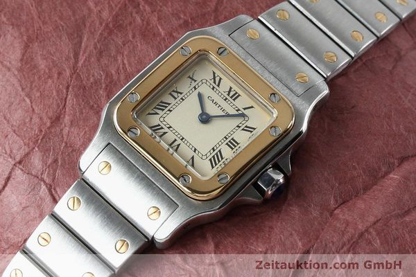 Used luxury watch Cartier Santos steel / gold quartz Kal. 057  | 151960 01