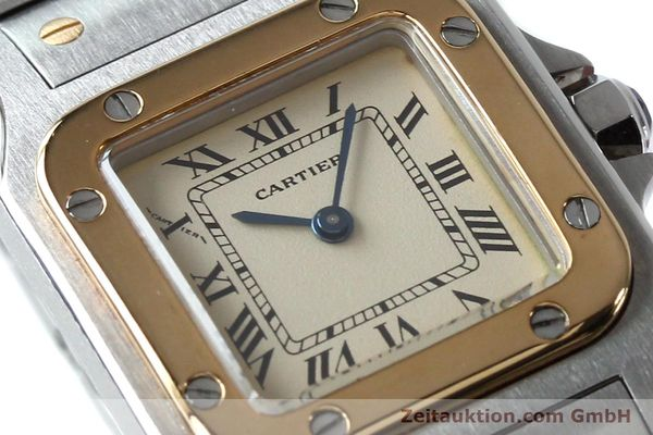 Used luxury watch Cartier Santos steel / gold quartz Kal. 057  | 151960 02