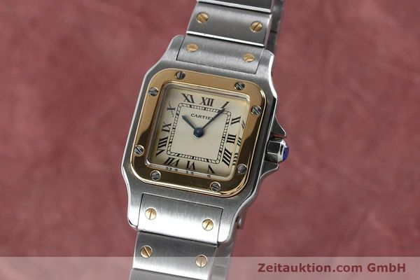 Used luxury watch Cartier Santos steel / gold quartz Kal. 057  | 151960 04