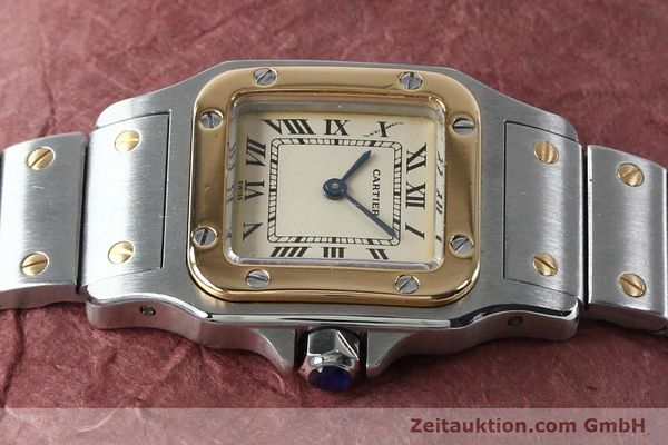 Used luxury watch Cartier Santos steel / gold quartz Kal. 057  | 151960 05