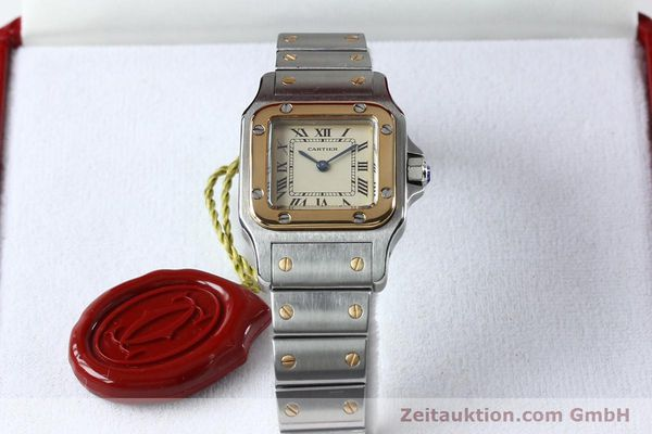 Used luxury watch Cartier Santos steel / gold quartz Kal. 057  | 151960 07