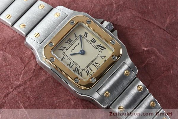 Used luxury watch Cartier Santos steel / gold quartz Kal. 057  | 151960 11