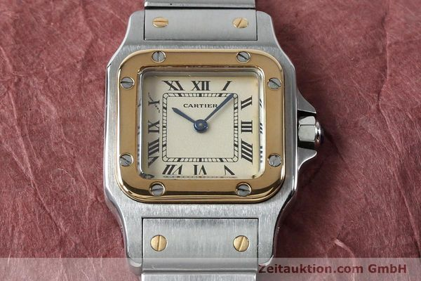 Used luxury watch Cartier Santos steel / gold quartz Kal. 057  | 151960 12