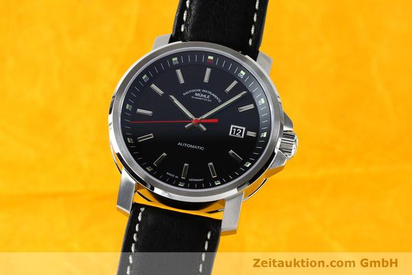 Used luxury watch Mühle 29er Big steel automatic Kal. SW200 Ref. M1-25-30  | 151962 04