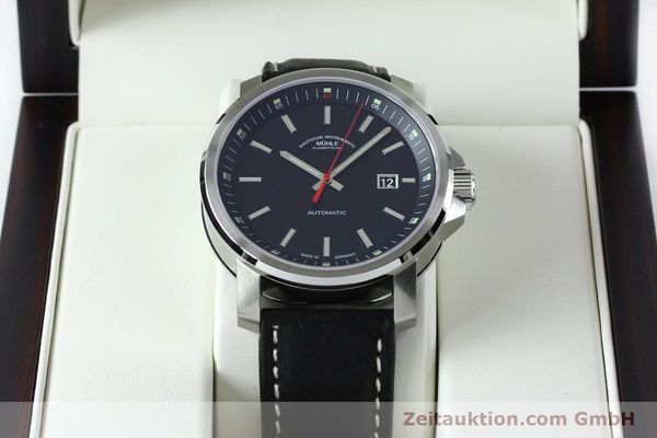 Used luxury watch Mühle 29er Big steel automatic Kal. SW200 Ref. M1-25-30  | 151962 07