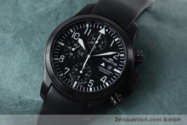 Used luxury watch Fortis B-42 chronograph steel automatic Kal. ETA 7750 Ref. 656.18.141 LIMITED EDITION | 151966 01