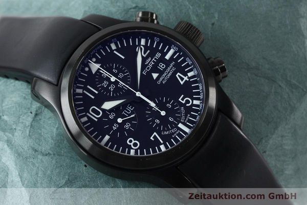 Used luxury watch Fortis B-42 chronograph steel automatic Kal. ETA 7750 Ref. 656.18.141 LIMITED EDITION | 151966 16