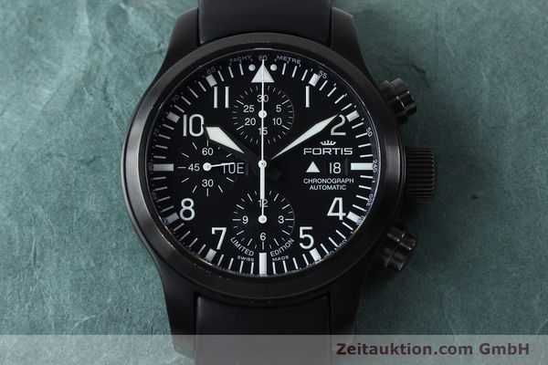 Used luxury watch Fortis B-42 chronograph steel automatic Kal. ETA 7750 Ref. 656.18.141 LIMITED EDITION | 151966 17