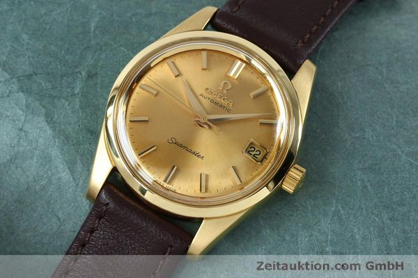 Used luxury watch Omega Seamaster 18 ct gold automatic Kal. 562 VINTAGE  | 151968 01