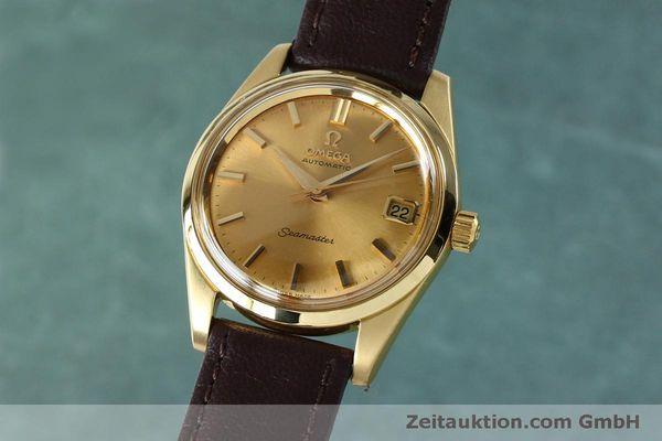 Used luxury watch Omega Seamaster 18 ct gold automatic Kal. 562 VINTAGE  | 151968 04