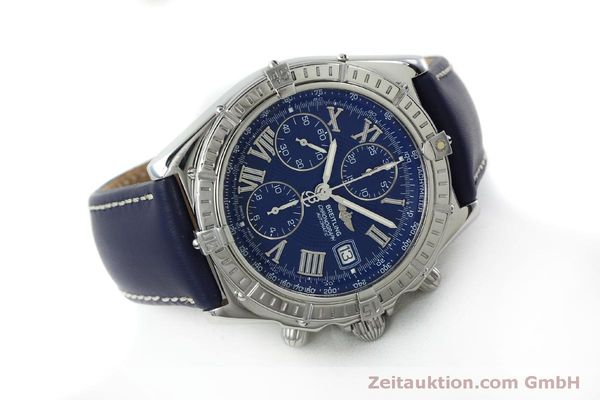 Used luxury watch Breitling Crosswind chronograph steel automatic Kal. B13 ETA 7750 Ref. A13055  | 151974 03