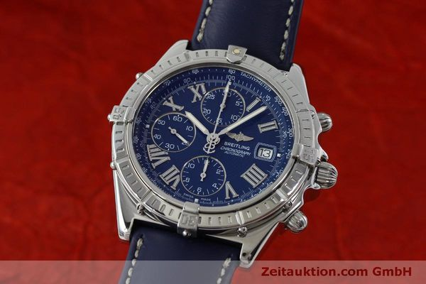 Used luxury watch Breitling Crosswind chronograph steel automatic Kal. B13 ETA 7750 Ref. A13055  | 151974 04