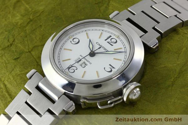 Used luxury watch Cartier Pasha steel automatic Kal. 052 ETA 2892A2  | 151975 01