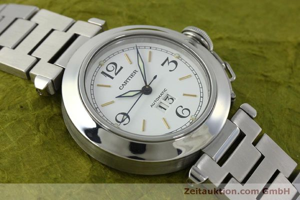 Used luxury watch Cartier Pasha steel automatic Kal. 052 ETA 2892A2  | 151975 12
