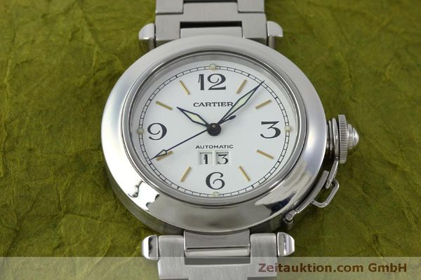 Used luxury watch Cartier Pasha steel automatic Kal. 052 ETA 2892A2  | 151975 13