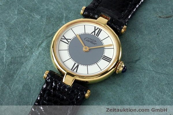 Used luxury watch Cartier Vermeil silver-gilt quartz Kal. 90  | 151977 01