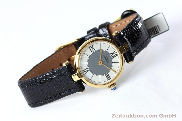 Used luxury watch Cartier Vermeil silver-gilt quartz Kal. 90  | 151977 03