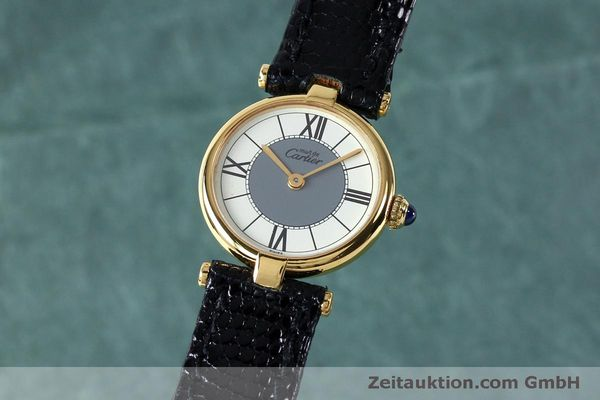 Used luxury watch Cartier Vermeil silver-gilt quartz Kal. 90  | 151977 04
