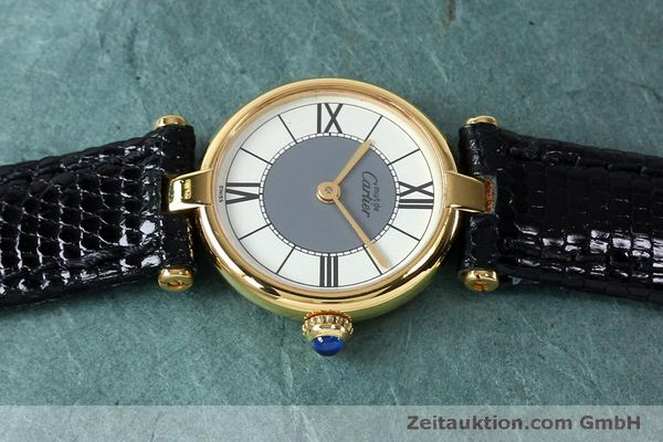 Used luxury watch Cartier Vermeil silver-gilt quartz Kal. 90  | 151977 05