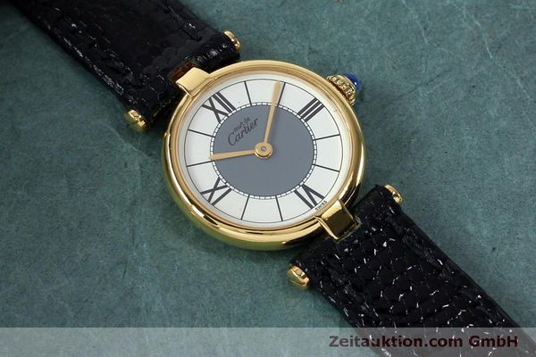 Used luxury watch Cartier Vermeil silver-gilt quartz Kal. 90  | 151977 11