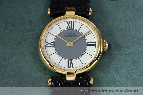 Used luxury watch Cartier Vermeil silver-gilt quartz Kal. 90  | 151977 12