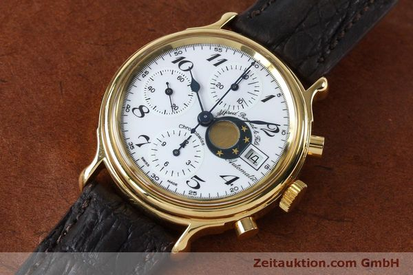 Used luxury watch Chronoswiss A. Rochat chronograph gold-plated automatic Kal. Val 7750 Ref. 77.500  | 151986 01