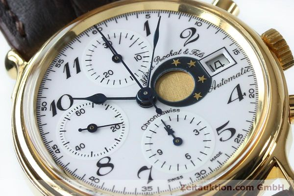 Used luxury watch Chronoswiss A. Rochat chronograph gold-plated automatic Kal. Val 7750 Ref. 77.500  | 151986 02