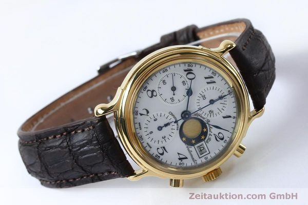 Used luxury watch Chronoswiss A. Rochat chronograph gold-plated automatic Kal. Val 7750 Ref. 77.500  | 151986 03