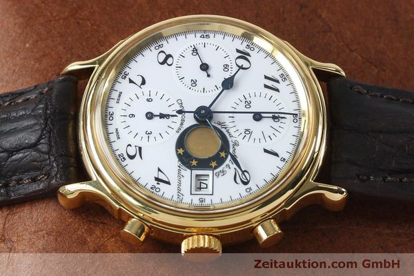 Used luxury watch Chronoswiss A. Rochat chronograph gold-plated automatic Kal. Val 7750 Ref. 77.500  | 151986 05