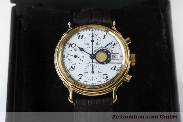 Used luxury watch Chronoswiss A. Rochat chronograph gold-plated automatic Kal. Val 7750 Ref. 77.500  | 151986 07