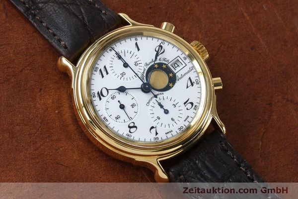 Used luxury watch Chronoswiss A. Rochat chronograph gold-plated automatic Kal. Val 7750 Ref. 77.500  | 151986 13