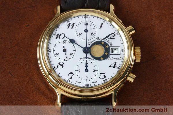 Used luxury watch Chronoswiss A. Rochat chronograph gold-plated automatic Kal. Val 7750 Ref. 77.500  | 151986 14