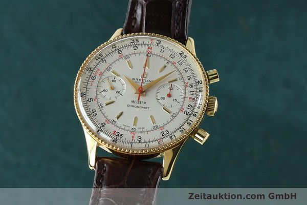 Used luxury watch Breitling Chronomat chronograph gold-plated manual winding Kal. Venus 175 Ref. 808 VINTAGE  | 151987 04