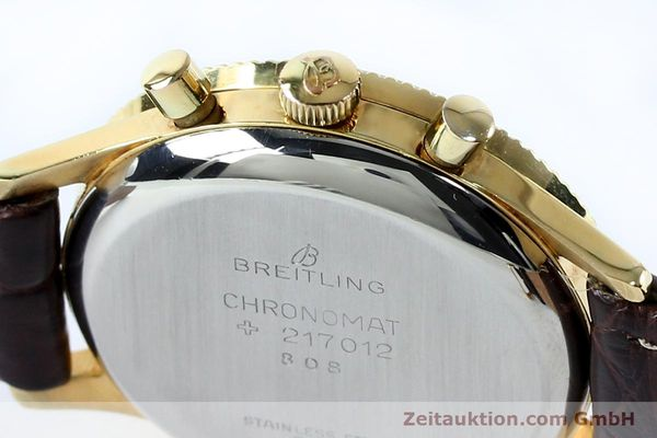 Used luxury watch Breitling Chronomat chronograph gold-plated manual winding Kal. Venus 175 Ref. 808 VINTAGE  | 151987 08