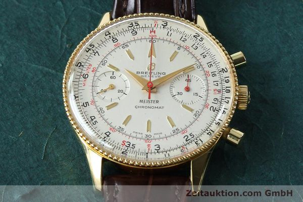 Used luxury watch Breitling Chronomat chronograph gold-plated manual winding Kal. Venus 175 Ref. 808 VINTAGE  | 151987 14