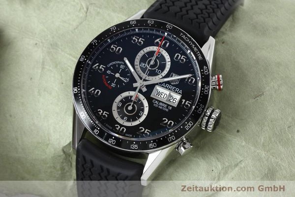 Used luxury watch Tag Heuer Carrera chronograph steel automatic Kal. 16 ETA 7750 Ref. CV2A10-0  | 152005 01